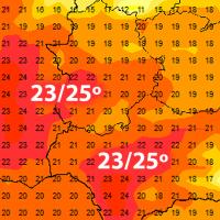 Extremadura roza los 25ºC, antes de las posibles lluvias del fin de semana