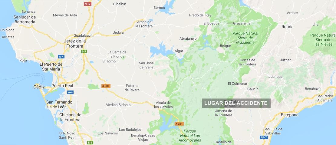 Muere el conductor de un vehículo en Jimena de la Frontera (Cádiz)