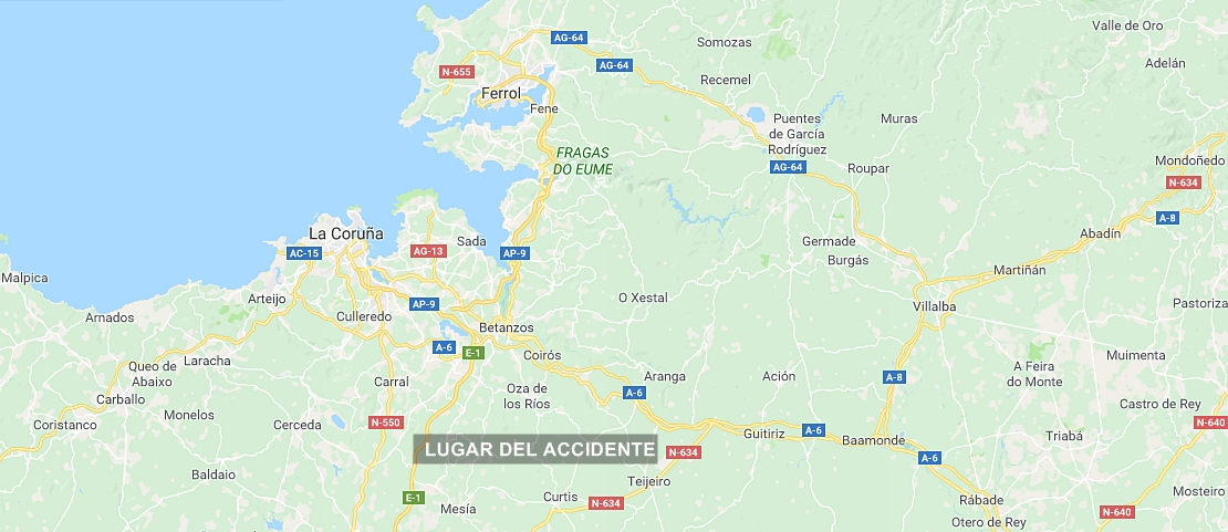 Fallece una mujer tras colisionar con un camión en La Coruña