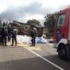 Bomberos de Herrera del Duque salvan la vida a un camionero