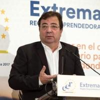 Vara destaca las condiciones adecuadas para emprender en Extremadura