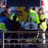 Accidente de tráfico en la rotonda de Los Tres Poetas