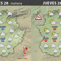 Previsión meteorológica en Extremadura. Días 28, 29 y 30 de diciembre