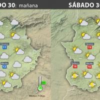 Previsión meteorológica en Extremadura. Días 30, 31 de diciembre y 1 de enero