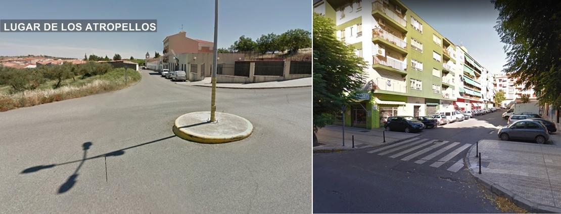 Dos personas graves al ser atropelladas en Badajoz y Monesterio