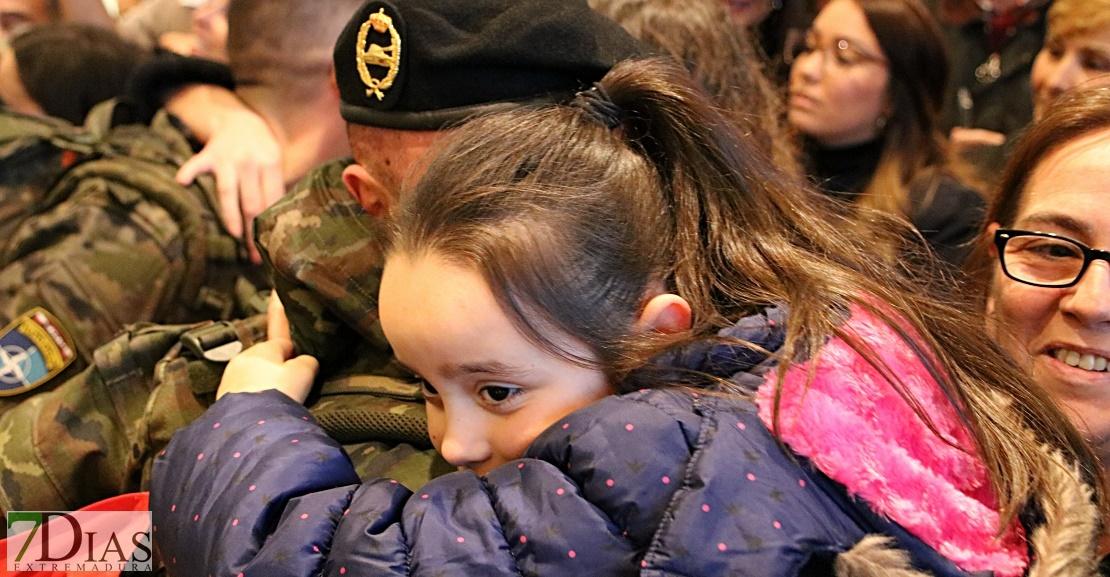 Emotivas imágenes de la llegada de la Brigada Extremadura XI a Talavera