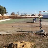 Obras para adecentar las instalaciones deportivas de La Corchera