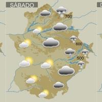 Fin de semana de lluvia, frío y nieve en Extremadura