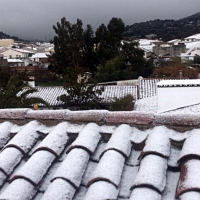Así nieva en Monesterio (Badajoz)
