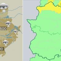 Pasan al domingo la alerta por nieve en el norte de Extremadura