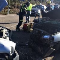 Cuatro heridos en un accidente entre Llerena y Monesterio