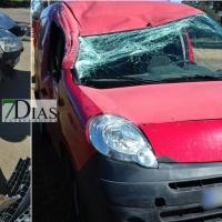 Accidente de tráfico en las inmediaciones de la ermita de Bótoa