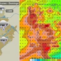 Adiós frío, hola lluvias abundantes para Extremadura