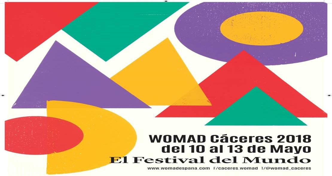 Formas geométricas y colores cálidos, imagen del WOMAD 2018