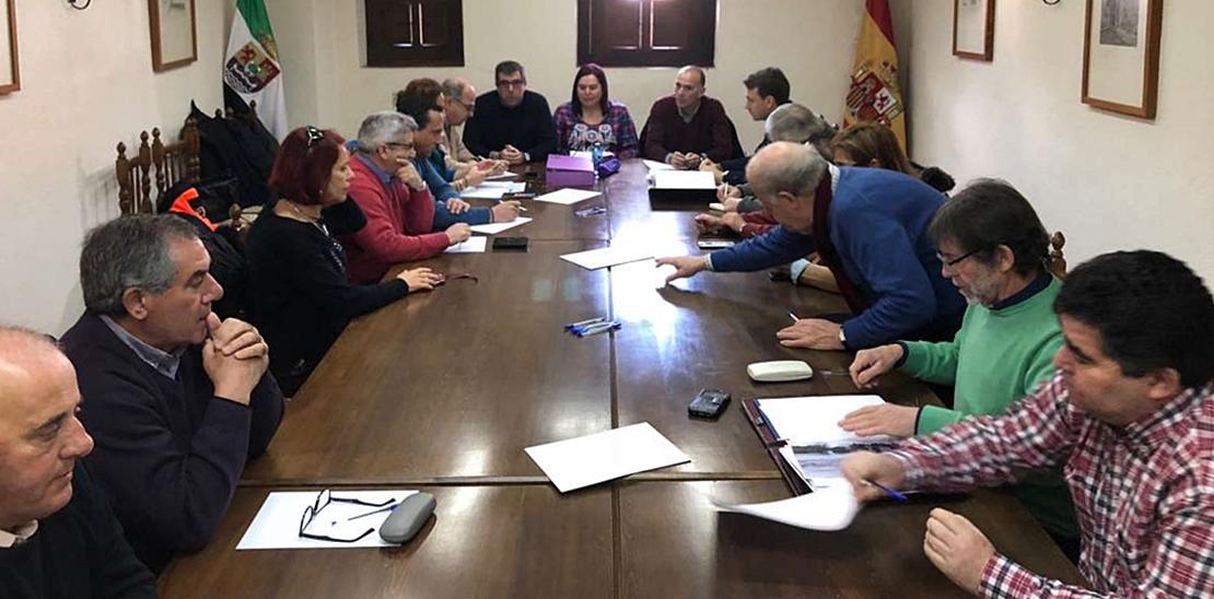 Reunión para cuantificar los daños de Emma, Félix y Gisele en La Vera