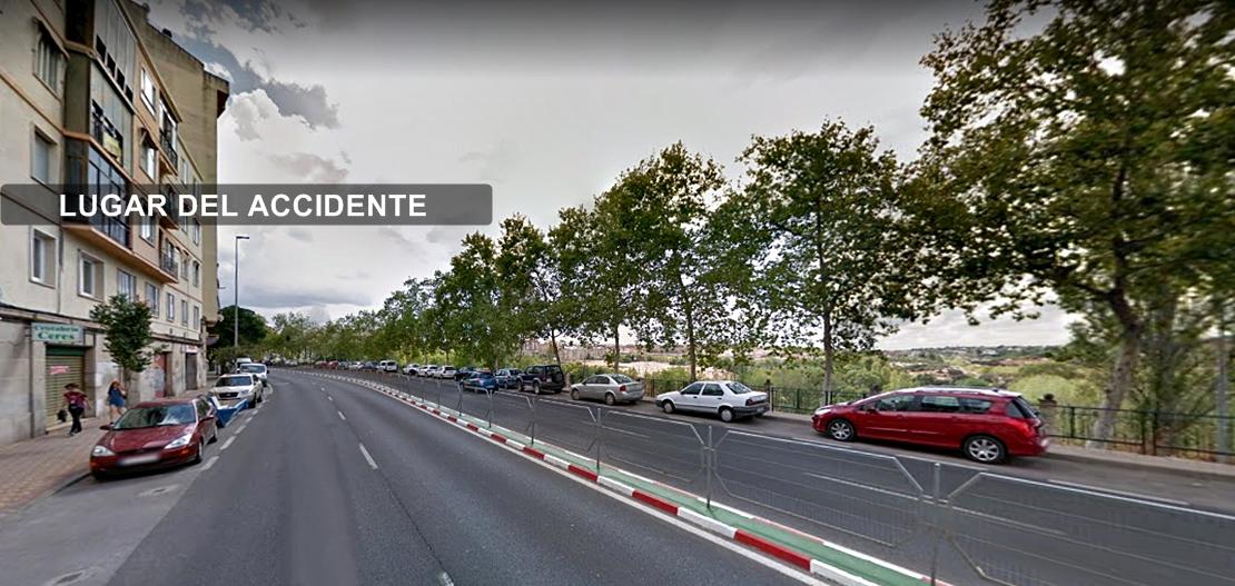 Un joven sufre politraumatismos en un accidente en Cáceres