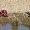 Cruz Roja realiza prácticas subacuáticas en el río Guadiana