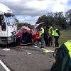 En estado crítico el herido en el accidente de la carretera Cáceres - Badajoz