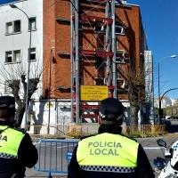 Cortes de tráfico ante el peligro de derrumbe de un edificio en Badajoz