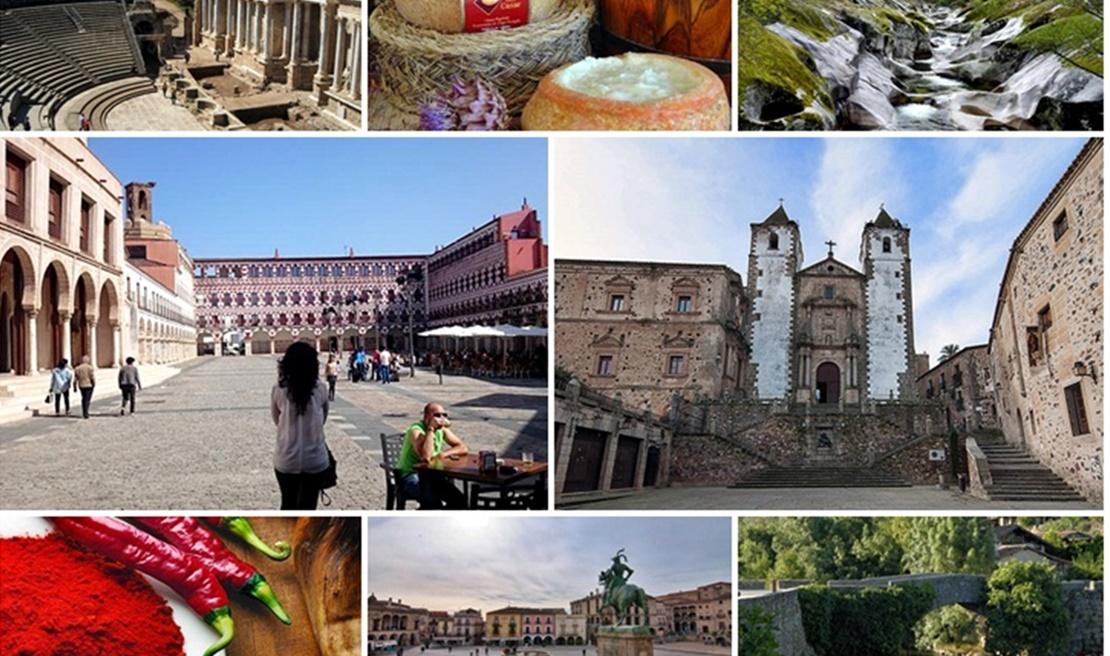 Periodistas chinos conocen el patrimonio histórico y la gastronomía extremeña