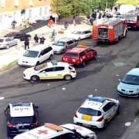 Cuatro intoxicados en un incendio en Badajoz