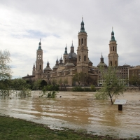La crecida del Ebro en imágenes