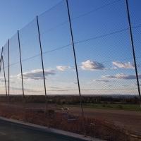 Temor en Cerro Gordo a que el viento derrumbe su pista deportiva