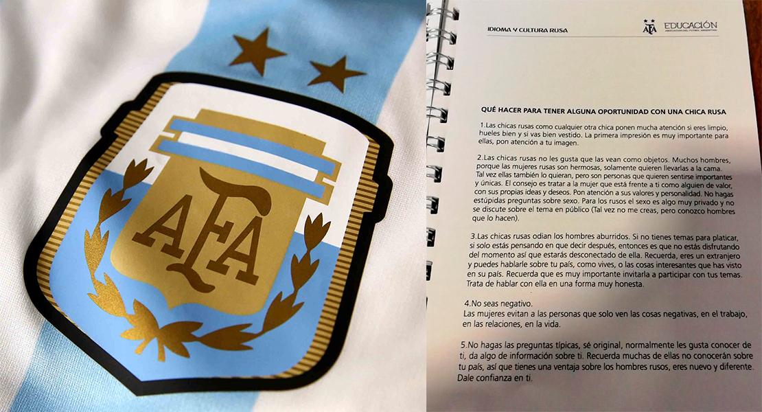 La Federación Argentina de Fútbol da consejos para ligar con las rusas