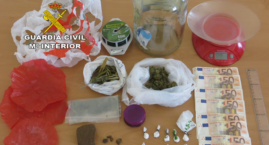 Seis detenciones por narcotráfico en tres viviendas de Campo Arañuelo