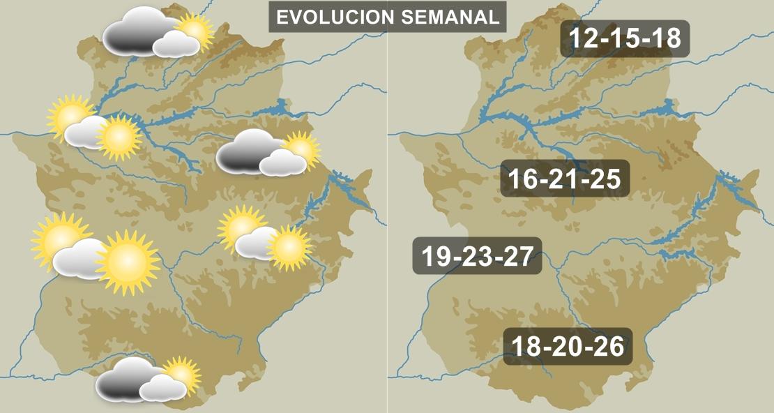 Ascenso térmico en Extremadura hasta el final de semana