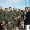 La delegada del Gobierno recibe a las tropas llegadas del Líbano