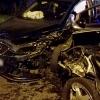 Grave colisión entre dos turismos esta madrugada en Badajoz