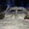 Salva su vida tras una colisión frontal y posterior incendio de su vehículo