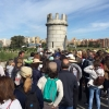 Centenares de personas visitan el puente de Gévora