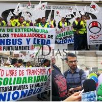 """Trabajadores de Uniónbus: """"Por culpa de la Junta no cobramos a final de mes"""""""