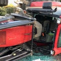 Grave accidente de un tractor en la provincia de Cáceres
