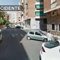 Un joven herido grave en colisión coche/moto ocurrida en Badajoz