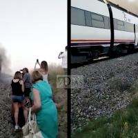 Otro tren se incendia y los pasajeros a 38 grados en el campo