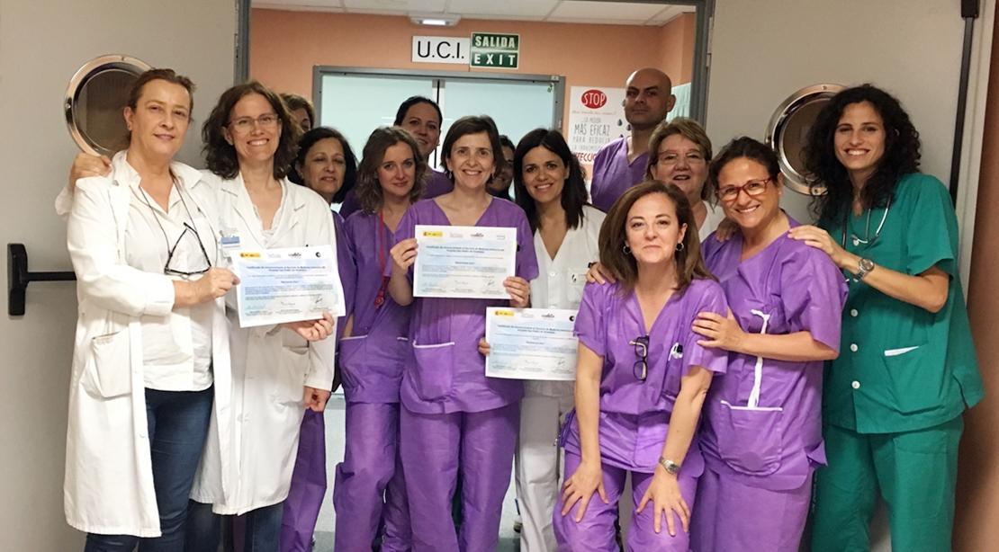 Reconocimiento nacional para la UCI del Hospital San Pedro de Alcántara