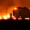 Un incendio cercano al Puente Real sorprendía a los pacenses la pasada noche
