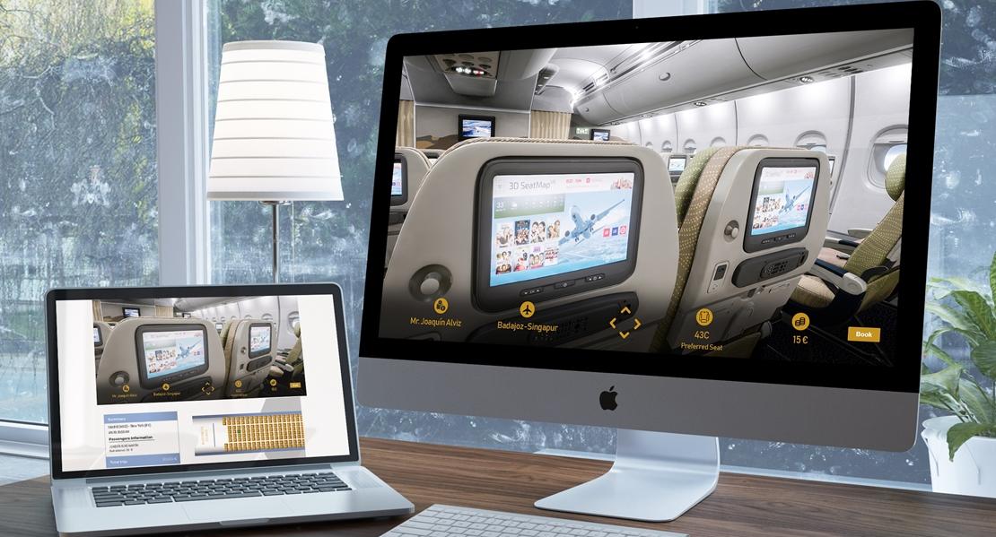 Premio alemán a la tecnología extremeña para elegir asiento en el avión