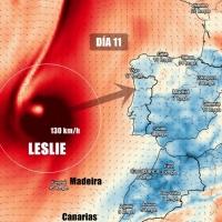 Algunos pronósticos dirigen a Leslie hacia la península