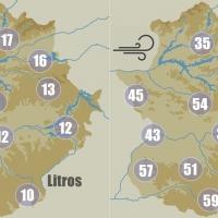 Los datos que deja esta jornada lluviosa