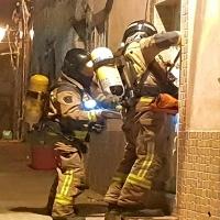 Incendio en una vivienda del Casco Antiguo