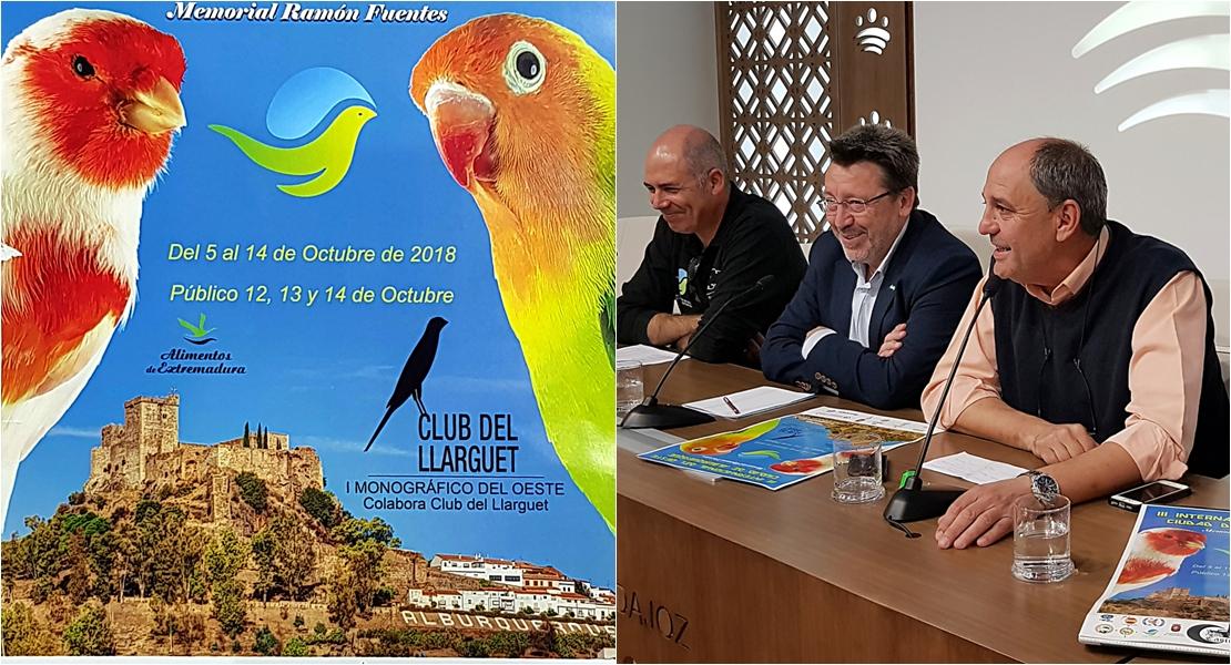 1.500 pájaros posan en Alburquerque durante el III Campeonato Internacional de Ornitología