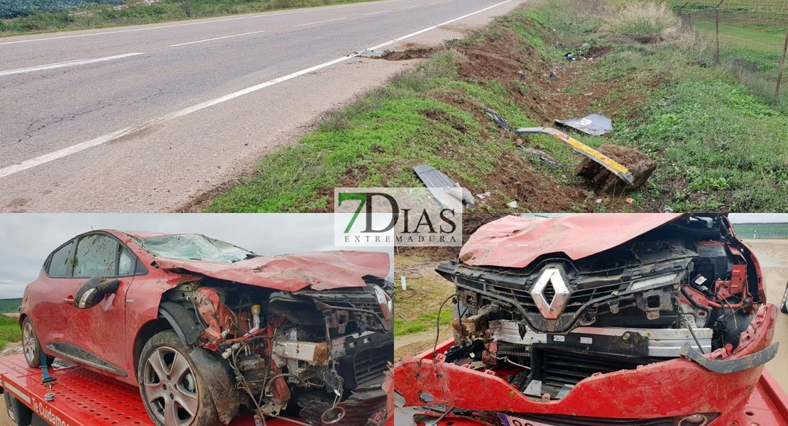 Accidente de tráfico en la carretera de Olivenza