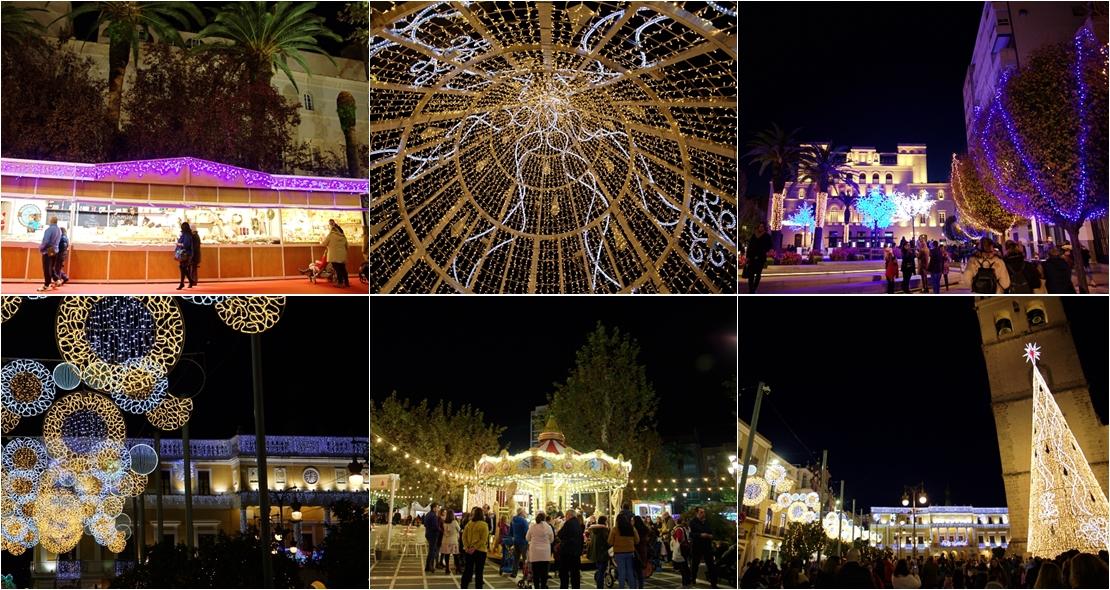 Vídeo del alumbrado navideño en Badajoz