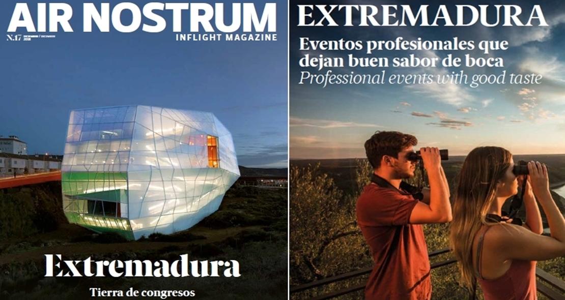 El palacio de congresos de Plasencia, portada de la revista de Air Nostrum
