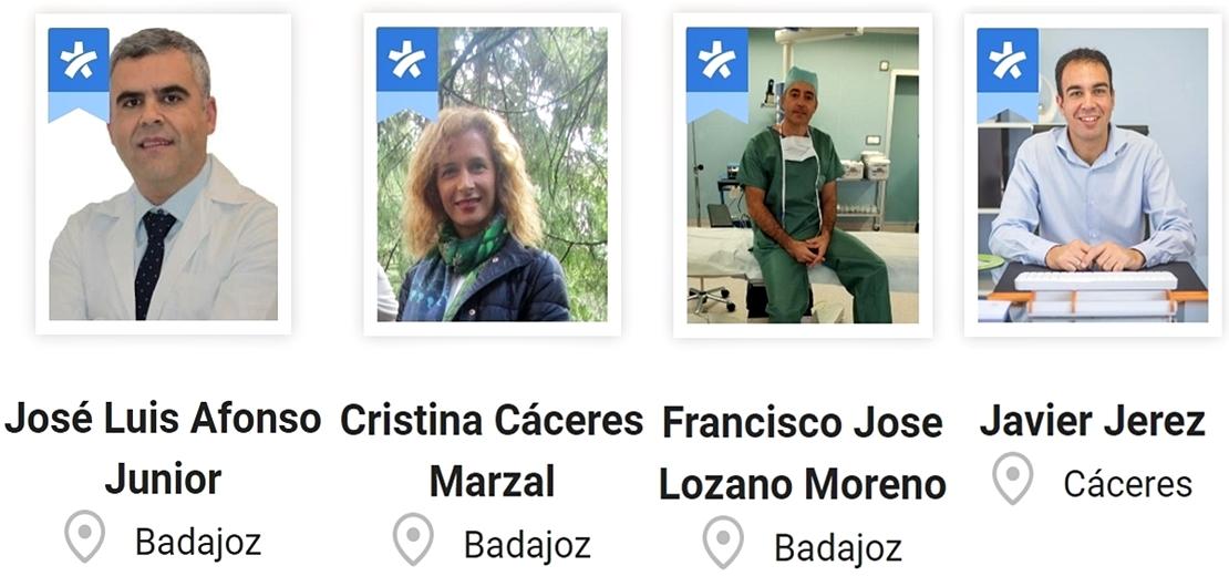 Cuatro médicos de Extremadura entre los mejores de España