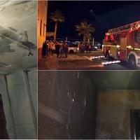 7 personas resultan heridas en el incendio de Don Benito